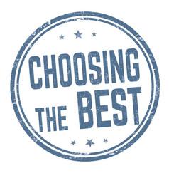 Choosing best sign or stamp vector