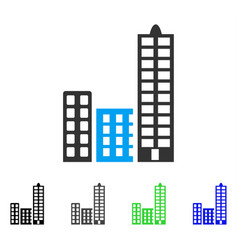 City flat icon vector