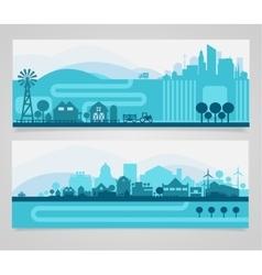 City Skyline Sets vector image