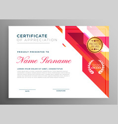 Creative certificate of appreciation in abstract vector