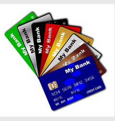 Credit card fan vector