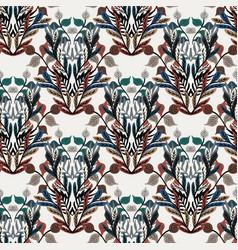 damask flourish curl fancy seamless pattern swatch vector image