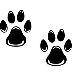 Dog prints logo vector