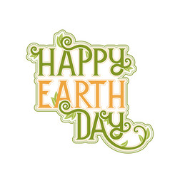earth day poster template vector image