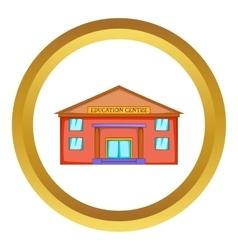 Education centre building icon vector