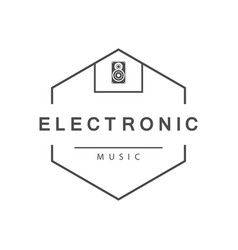 electronic music logo vector image