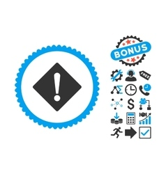Error Flat Icon with Bonus vector image