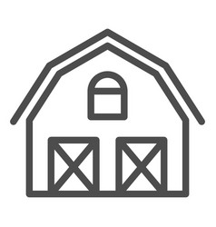 Farm house line icon warehouse vector