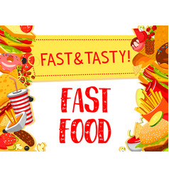 Fast food restaurant menu poster vector