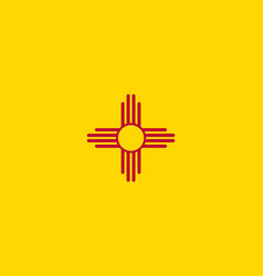 flag of the usa state of new mexico vector image