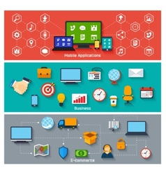 Flat concepts set vector image