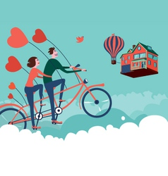 flying to home vector image