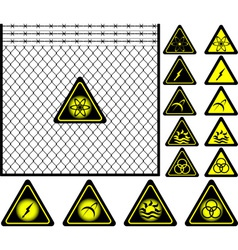 fourth mesh fence vector image