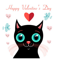 funny kitten in love vector image