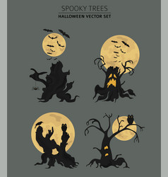 Halloween holiday info graphic elements flat vector