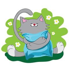 happy amusing cat vector image
