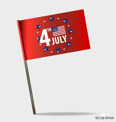 Happy independence day American Flag design vector image