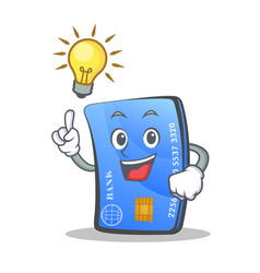 Have an idea credit card character cartoon vector