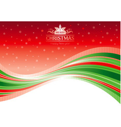 Holiday merry christmas happy new year vector