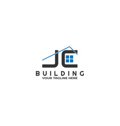 J and c initials modern building logo template vector
