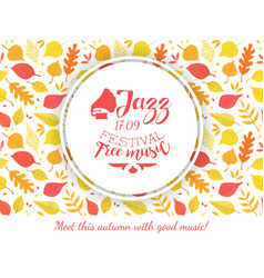 jazz festival free music banner template with vector image