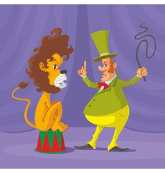 lion and tamer vector image