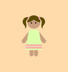 Little girl kid child cute girl vector