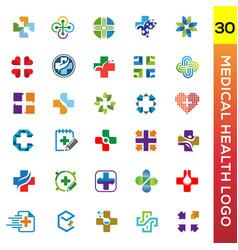 Medical health logo vector