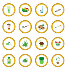 Medical marijuana icon circle vector