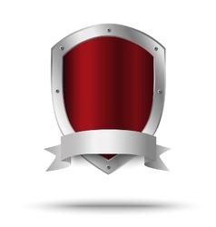 Metal shield Protection or victors symbol vector image