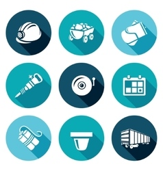 Mine Icons Set vector image