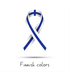 Modern colored ribbon with the finnish colors vector