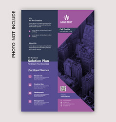 multipurpose flyer template vector image