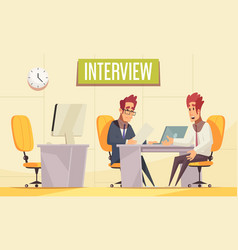Office interview job background vector