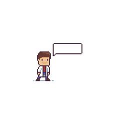 pixel art doc vector image