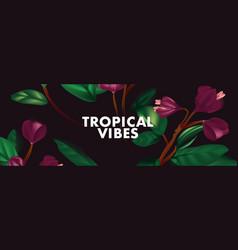 purple jungle floral background contrast tender vector image