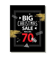 Real big christmas sale advert vector