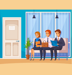 receive queue hiring composition vector image