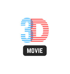 Simple 3d striped icon vector