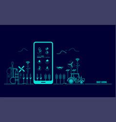 smartfarming vector image