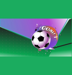 Soccer and football goals banner icon design vector