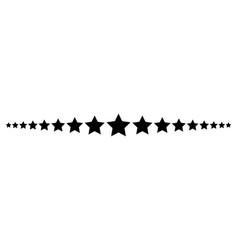 Star line divider design footer modern border vector