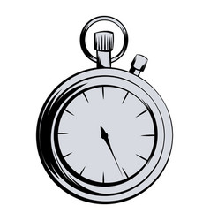 stopwatch icon cartoon vector image