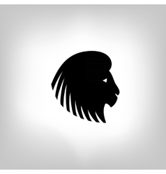 stylized lion head vector image