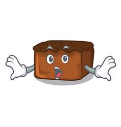 surprised brownies mascot cartoon style vector image