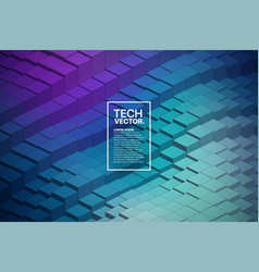 technology 3d waveform abstract background vector image