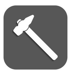The hammer icon Hammer symbol Flat vector image
