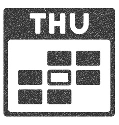 Thursday Calendar Grid Grainy Texture Icon vector