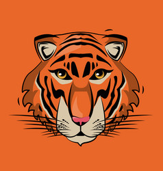 Tiger cartoon print for t shirt vector