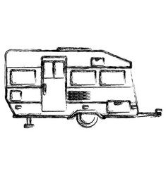 Trailer home isolated vector